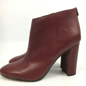 Sam Edelman Womens Red Ankle Boots Campbell 10
